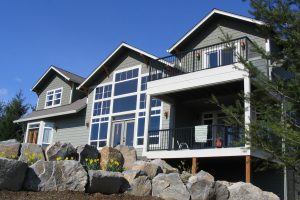 Picture of a passive solar house